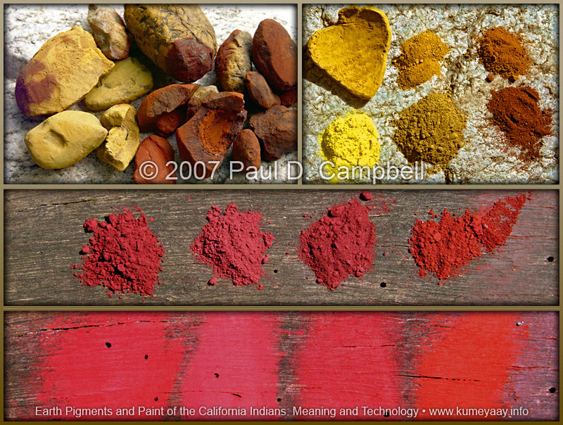 NATURAL RAW CALIFORNIA INDIAN OCHRE Red Ochre Yellow Ochre Native ...