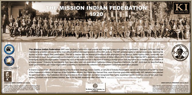 MISSION INDIAN HISTORY 1920s