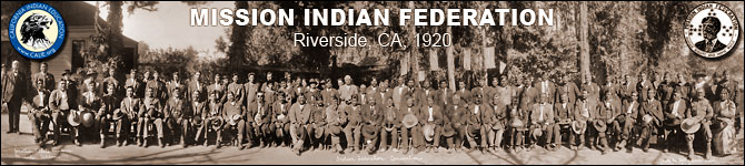 MISSION INDIAN FEDERATION 1920