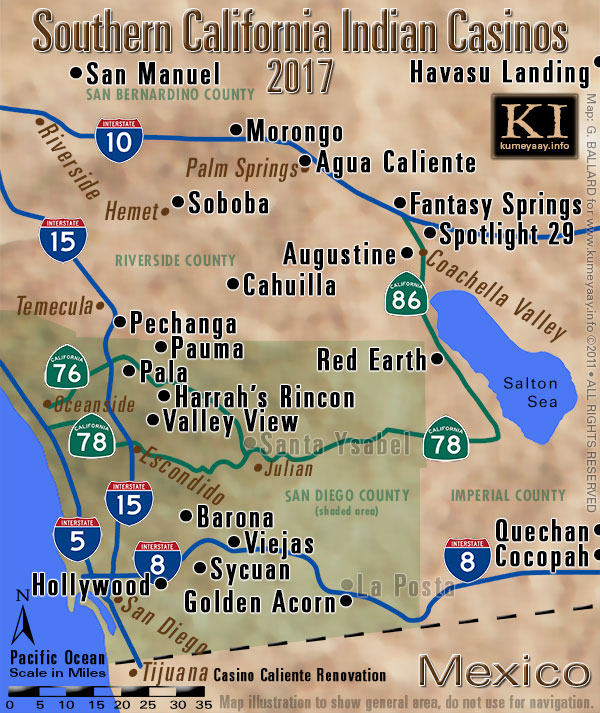 casino california map