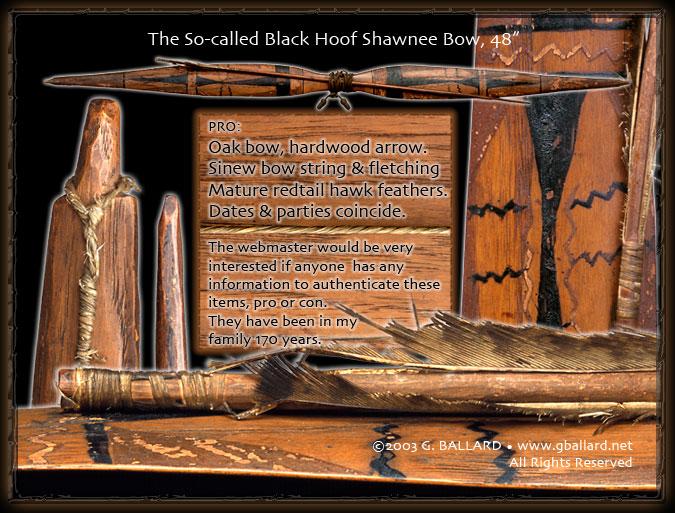 G  Ballard BIO Shawnee War Chief Black Hoof or MODOC 1800s
